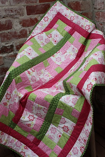 Pretty Pink and Green quilt