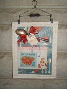 Retro Kitchen Collage Quilted Wallhanging