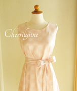 Pastel Sleeveless Dress with Sash