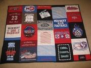 My first t-shirt quilt