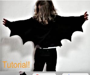 Easy Bat Wings for Halloween