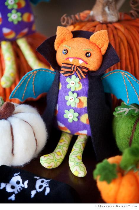 Bat Couture - Cornelius the Bat Softie Pattern by Heather Bailey