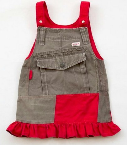 Recycle Cargo Pants to a Toddler Skirt Pattern - Free PDF Tutorial