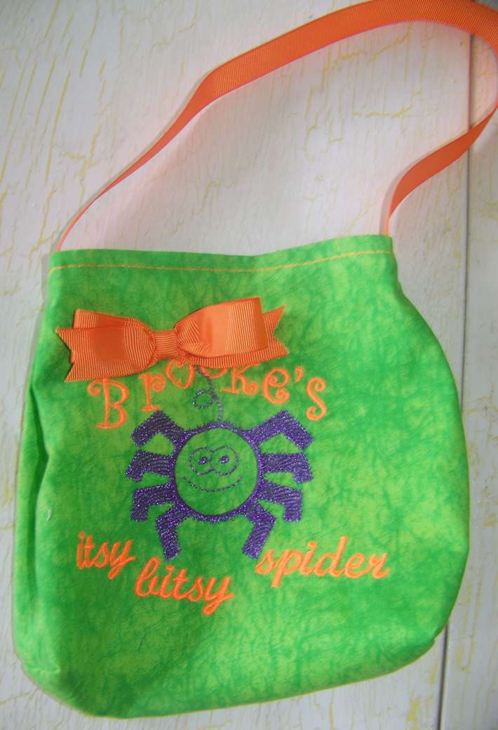 Itsy Bitsy Spider Embroidered Bag