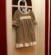 100% Linen Flower Girls Dress