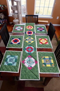 Quilted place mats and table runner