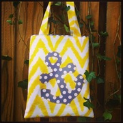 Appliqued Anchor Tote Bag