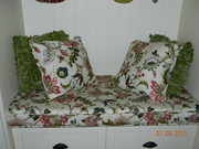 Bench Seat Cushion and Pillows