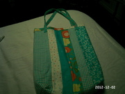 Strip Quilted Summer Tote Bag