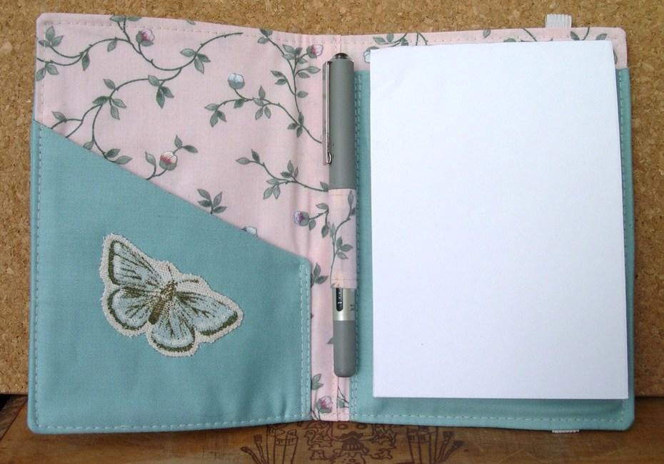 Butterflies Notepad Organizer, open