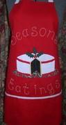"""Seasons Eatings"" - Christmas Cake Apron"