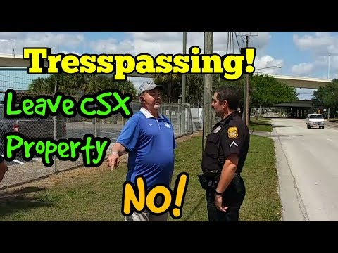 Railroad Calls POLICE for Me FILMING FROM STREET! First Amendment Audit Fail (Social Experiment)