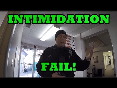 POLICE (OWNED) INTIMIDATION FAIL!! 1st Amendment Audit MI