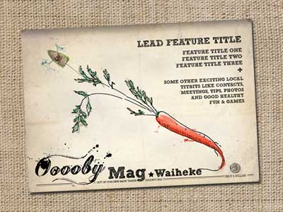 Rough concept of Ooooby Mag Waiheke