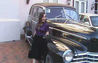 Carmen Johnson with classic car