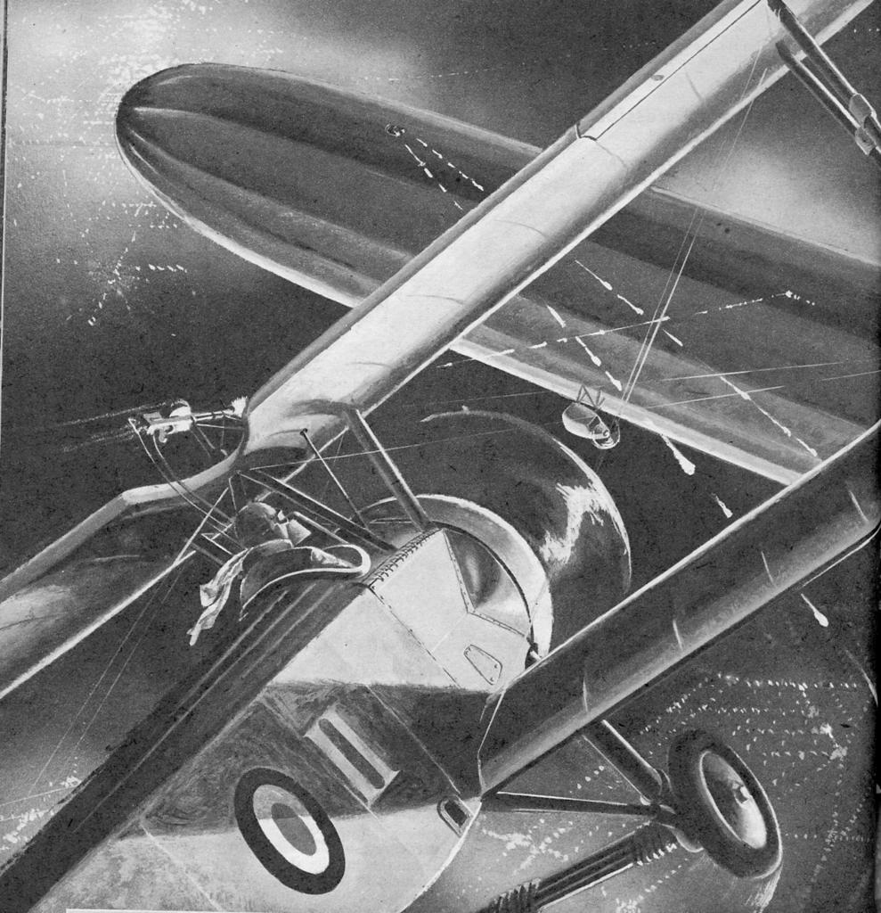 Zeppelin Over London by Bud Cramer