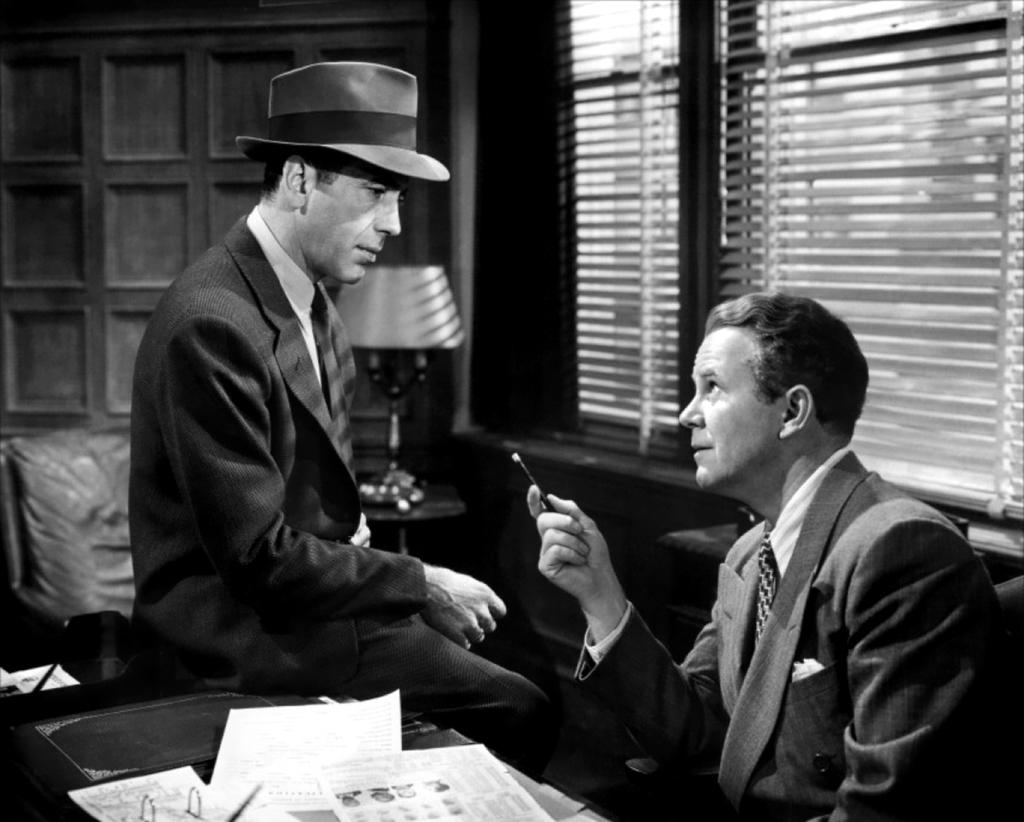 Humphrey Bogart as Philip Marlowe in The Big Sleep