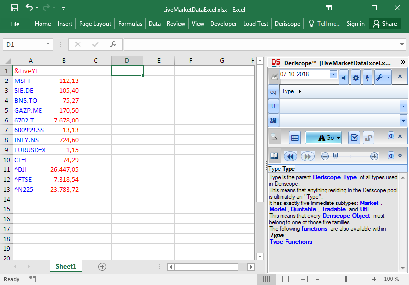 Live Stock Prices in Excel – GlobalRisk community