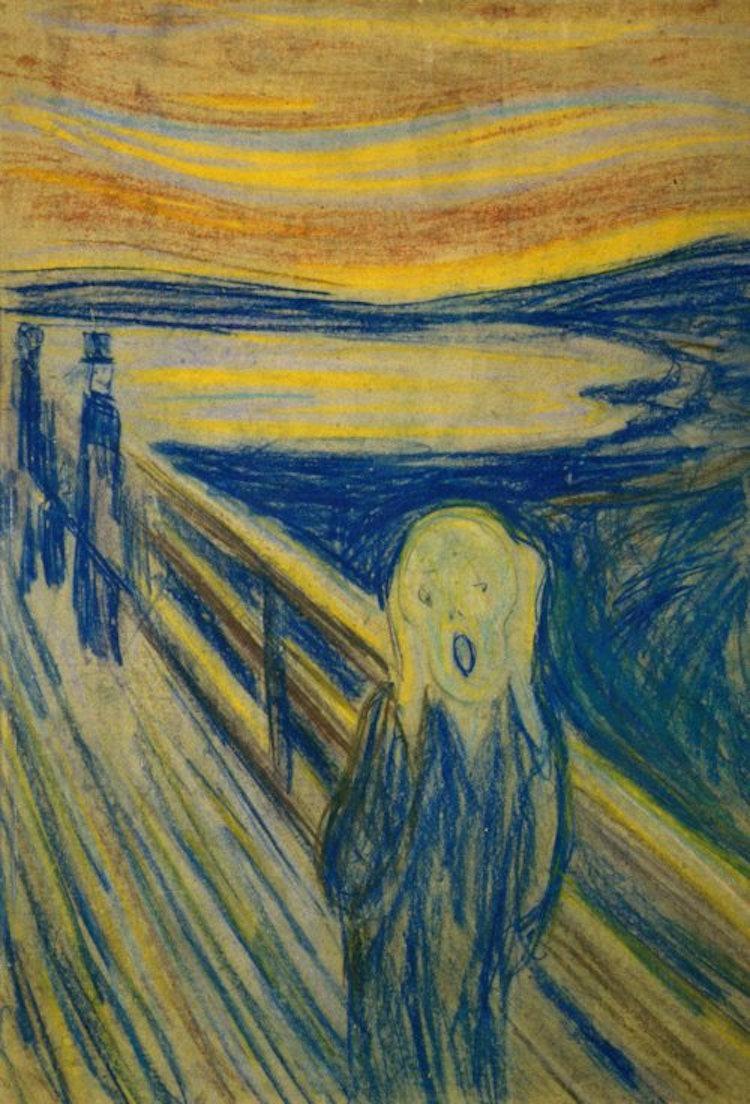ედვარდ მუნკი, ედვარდ მუნჩი, ედუარდ მუნკი, ედუარდ მუნჩი, კივილი, წივილი, შიში, მხატვრობა, ხელოვნება, ფერწერა, ნახატი, ისტორია, ნახატის ისტორია, ქველი, ბლოგი, Qwelly, art, blog, Edvard Munch, Scream