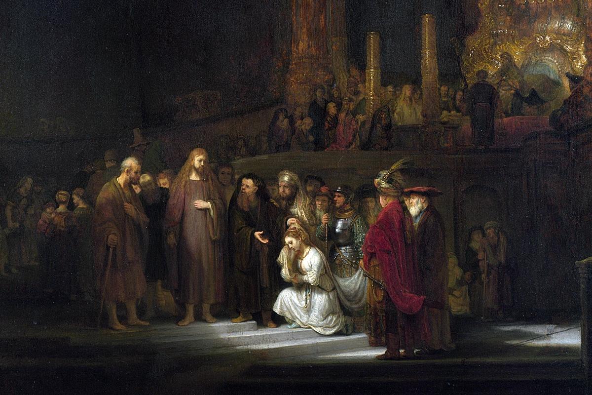 მრუშობაში მხილებული დედაკაცი, რემბრანდტი, Woman Taken in Adultery