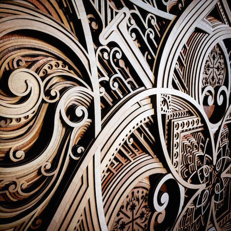 ხის ორნამენტები, დამუშავებული ხე, ლაზერული ჭრა, ხის თლა, ხელოვნება, ორნამენტი, qwelly, blog, art
