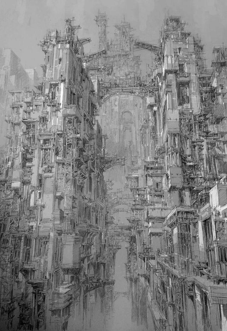 მხატვრობა, ნახატები, ესკიზები, ქალაქები, ბლოგი, ხელოვნება, Qwelly