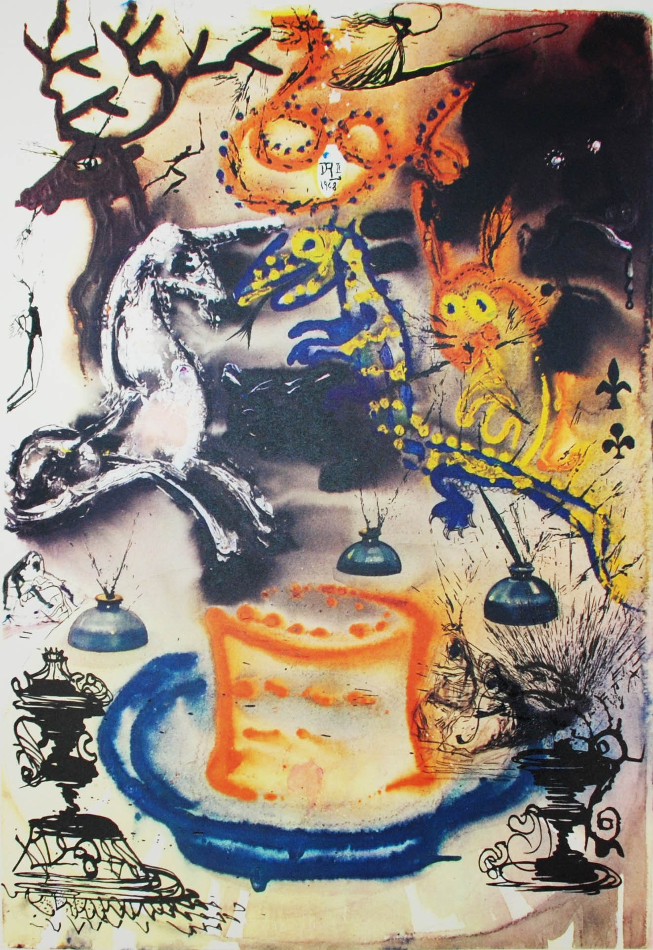 salvador dali, art, qwelly, qwellygraphy, blog, literature, illustration, ilustracia, alice in wonderland, სალვადორ დალი, ილუსტრაცია, დალის ილუსტრაციები, ალისა საოცრებათა ქვეყანაში, ალისა ვონდერლენდში, ქველიბლოგი, მხატვრობა, ხელოვნება