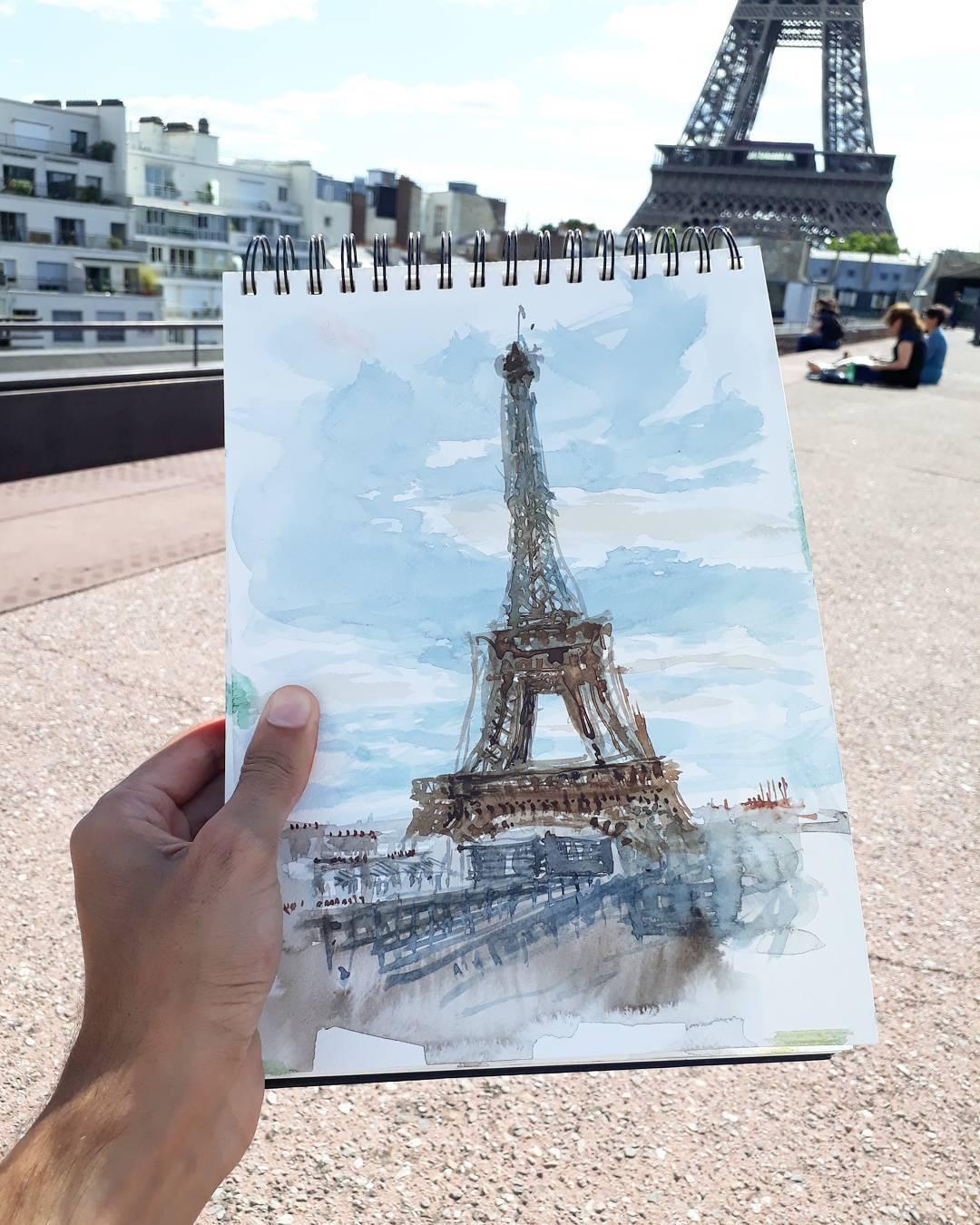 მხატვრობა, ურბანისტიკა, არქიტექტურა, აკვარელი, წყლის საღებავები, პარიზი, პარიზის ნახატები, პარიზი ნახატებში, პარიზი მხატვრობაში, პარიზის არქიტექტურა, qwelly, qwellygarphy, qwellyland, paris, painting