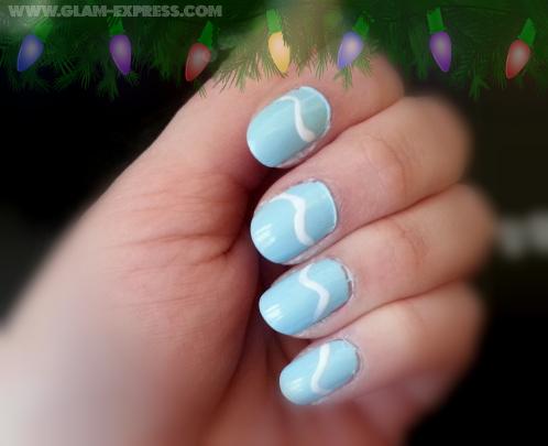 simple holiday nail art tutorial  glam express