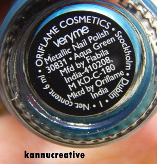 Review Oriflame Very Me Metallic Aqua Green Nail Polish Glam Express
