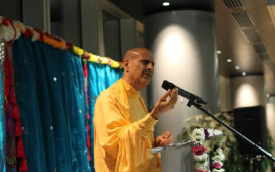 Radhanath Swami at HSBC Head Quarter
