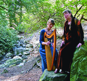 In The Groves: A Summer Solstice Journey with Diane Edgecomb accompanied by Margot Chamberlain on Celtic Harp