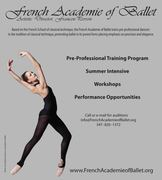AUDITIONS!  French Academie of Ballet Pre-Professional Training Program