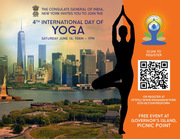 Consulate General of India presents The 4th International Day of Yoga with FREE Yoga and Meditation Sessions