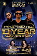 Triple Threat 10 Year Anniversary feat. Goapele & Zumbi of Zion-I