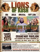 Reggae On The Bay Presents LIONS OF KUSH AT THE CRANEWAY PAVILION with an opening act by THE CHAD TUCKERS