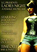 LG presents Ladies Night, a female showcase ft. Jessica Rabbit & Conscious Daughters