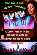 Aries Taurus April Baby Birthday Party - Hip Hop, R&B