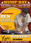HUMP DAY HAPPY HOUR w/ Ren the Vinyl Archaeologist @ Yoshi's SF (Wed 2/5)