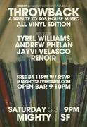 Throwback - Vinyl Night - Tribute to 90's House Music - FREE B4 11pm