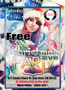 Xmas Eve Party - Free @ Freddie J's Bar & Lounge in San Jose