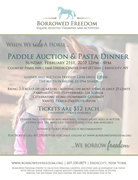 Paddle Auction and Pasta Dinner