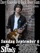 DAVY KNOWLES & BACK DOOR SLAM : COMING UP FOR AIR tour
