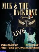 Nick & the backbone Live (Opening Band :The Tubescreamers)