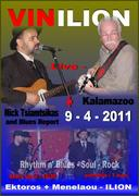 Nick Tsiamtsikas & Blues Report With Kalamazoo live at Vinilion