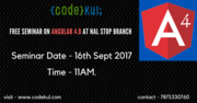 Free Seminar on Angular4.0 at Codekul