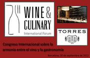 I Congreso internacional sobre la armonía entre el vino y la gastronomía, Wine & Culinary International Forum