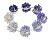 Bead-Silver Dome Bracelet