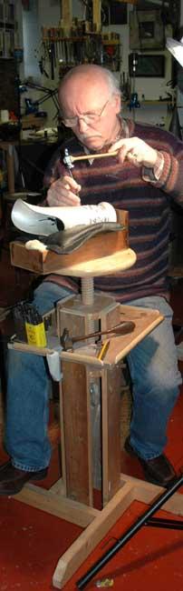 Brian  Clarke working on water pitcher