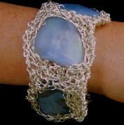 SIlver crocheted bracelet